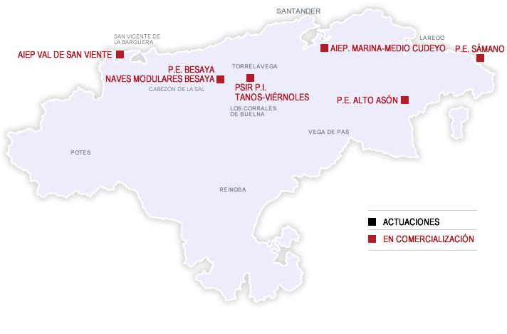 Mapa de actuaciones en comercialización